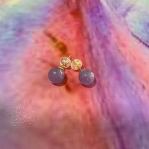 Amethyst Ball Earrings